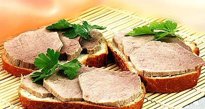бутерброд из мяса