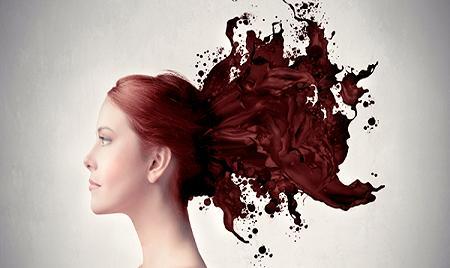 кофе волосы