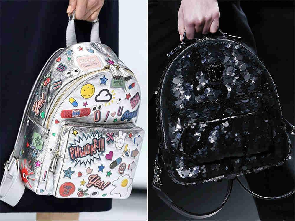 модные рюкзаки с пайетками