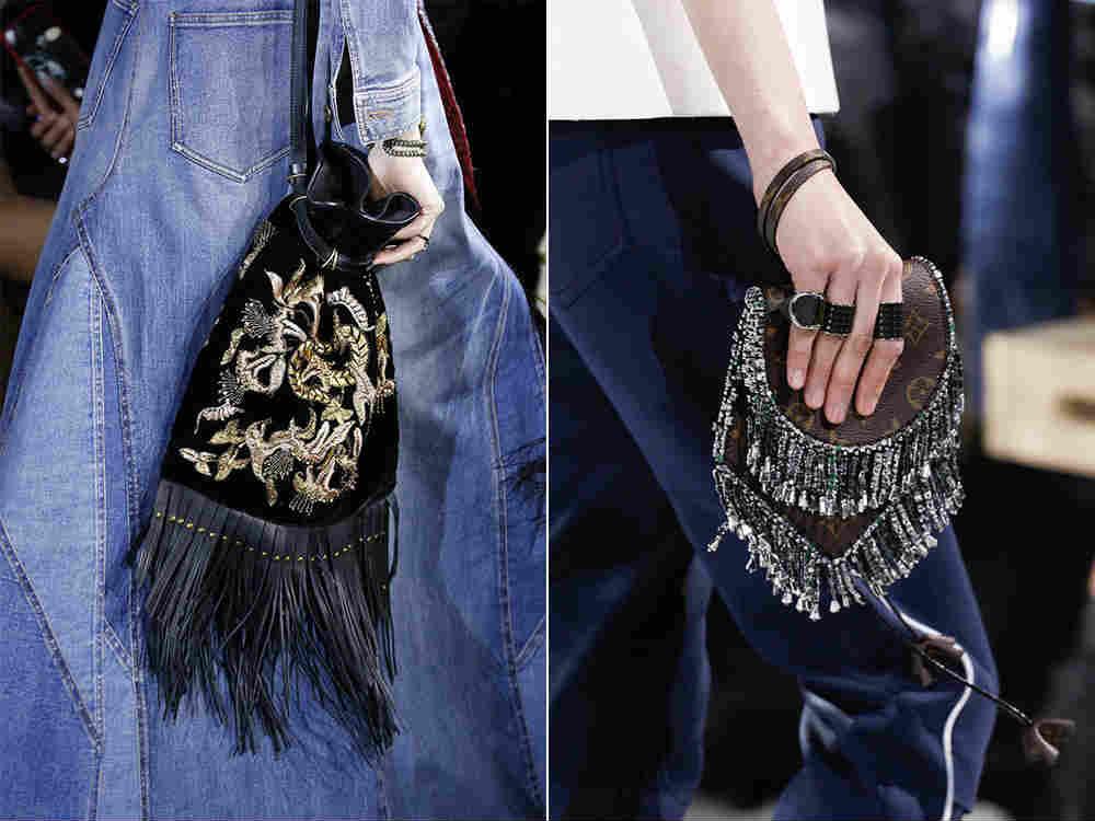 модные сумки с бахромой