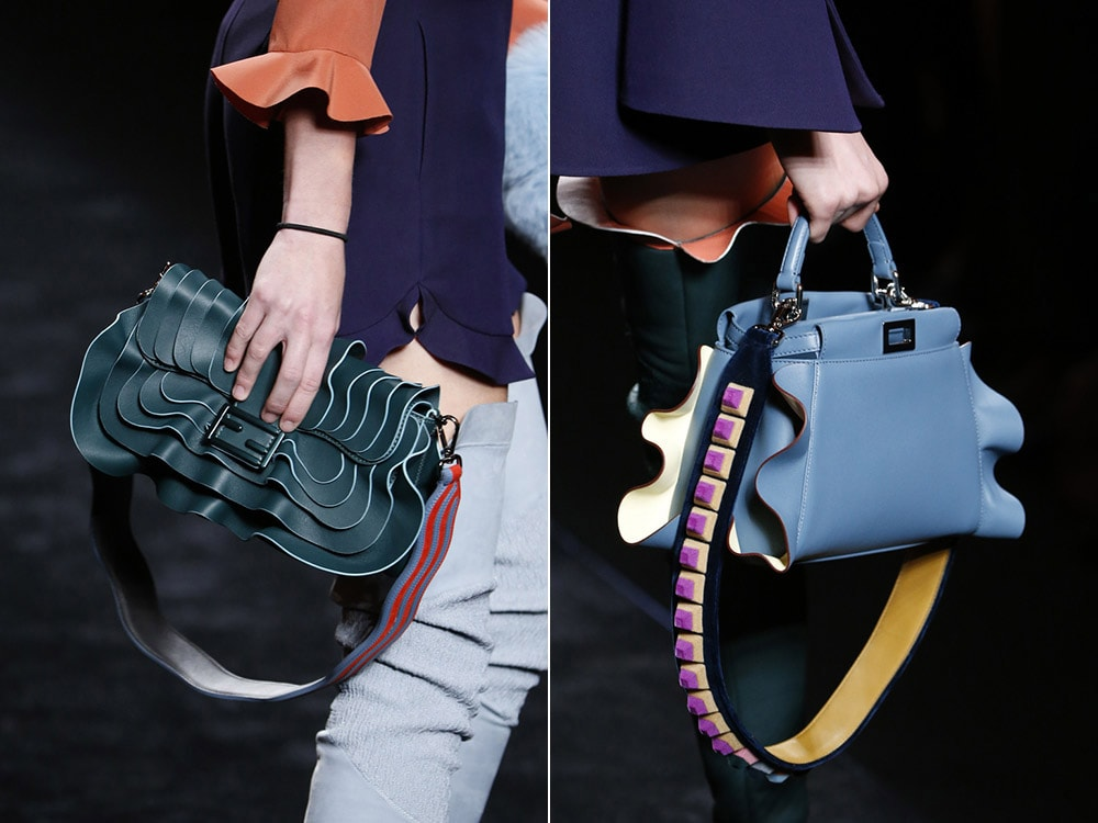 модные сумки с оборками