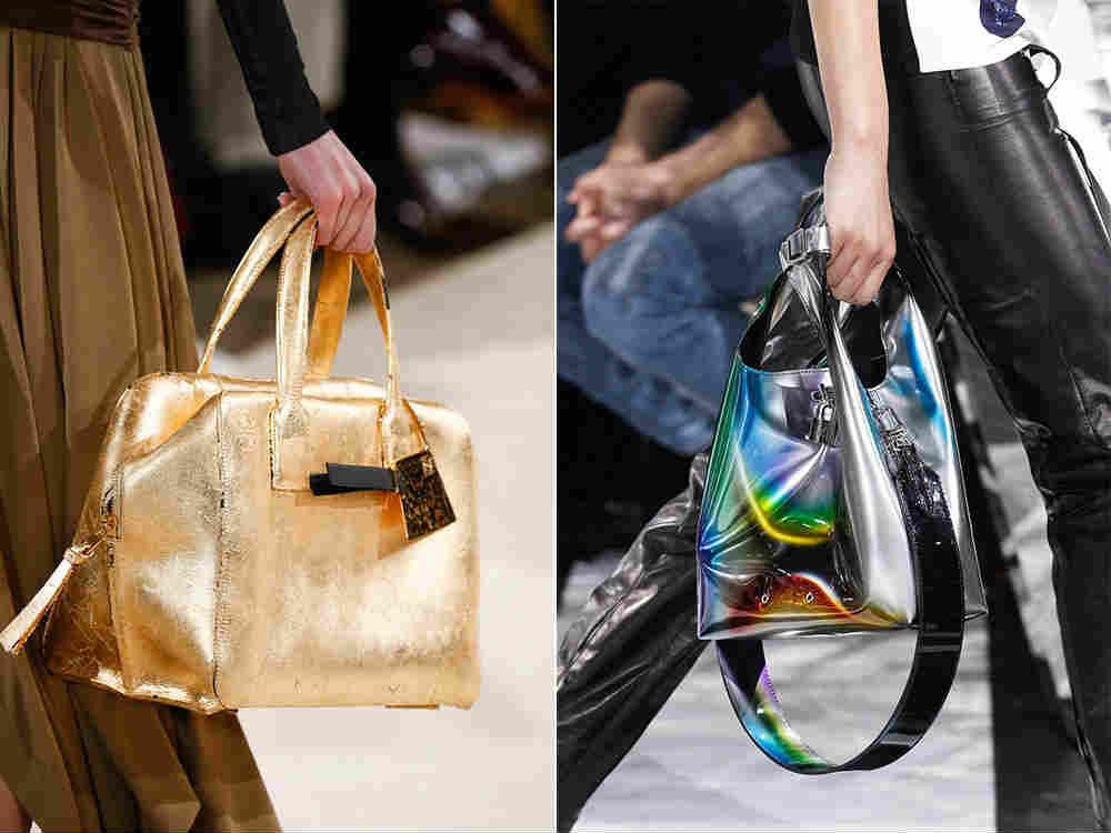 сумки цвета металлик
